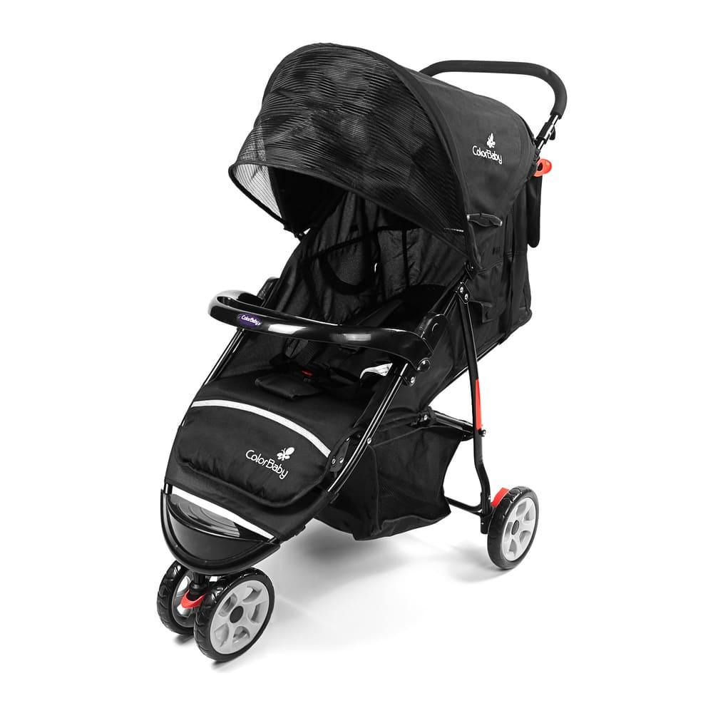 Carrinho de Bebê Passeio 3 Rodas Speed Color Baby Preto