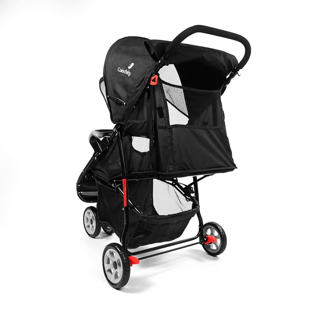 Carrinho de Bebê Passeio 3 Rodas Speed Color Baby Preto  - Encanto Baby