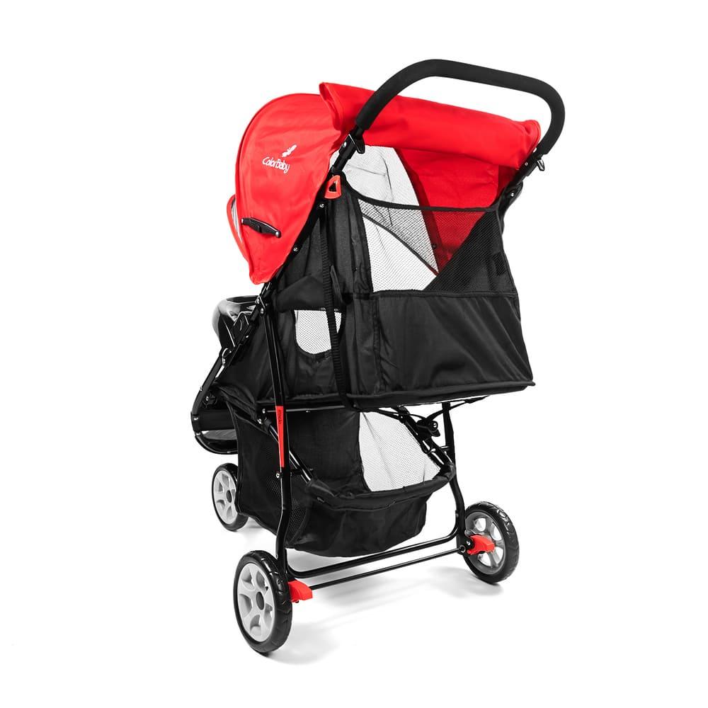 Carrinho de Bebê Passeio 3 Rodas Speed Color Baby Vermelho  - Encanto Baby