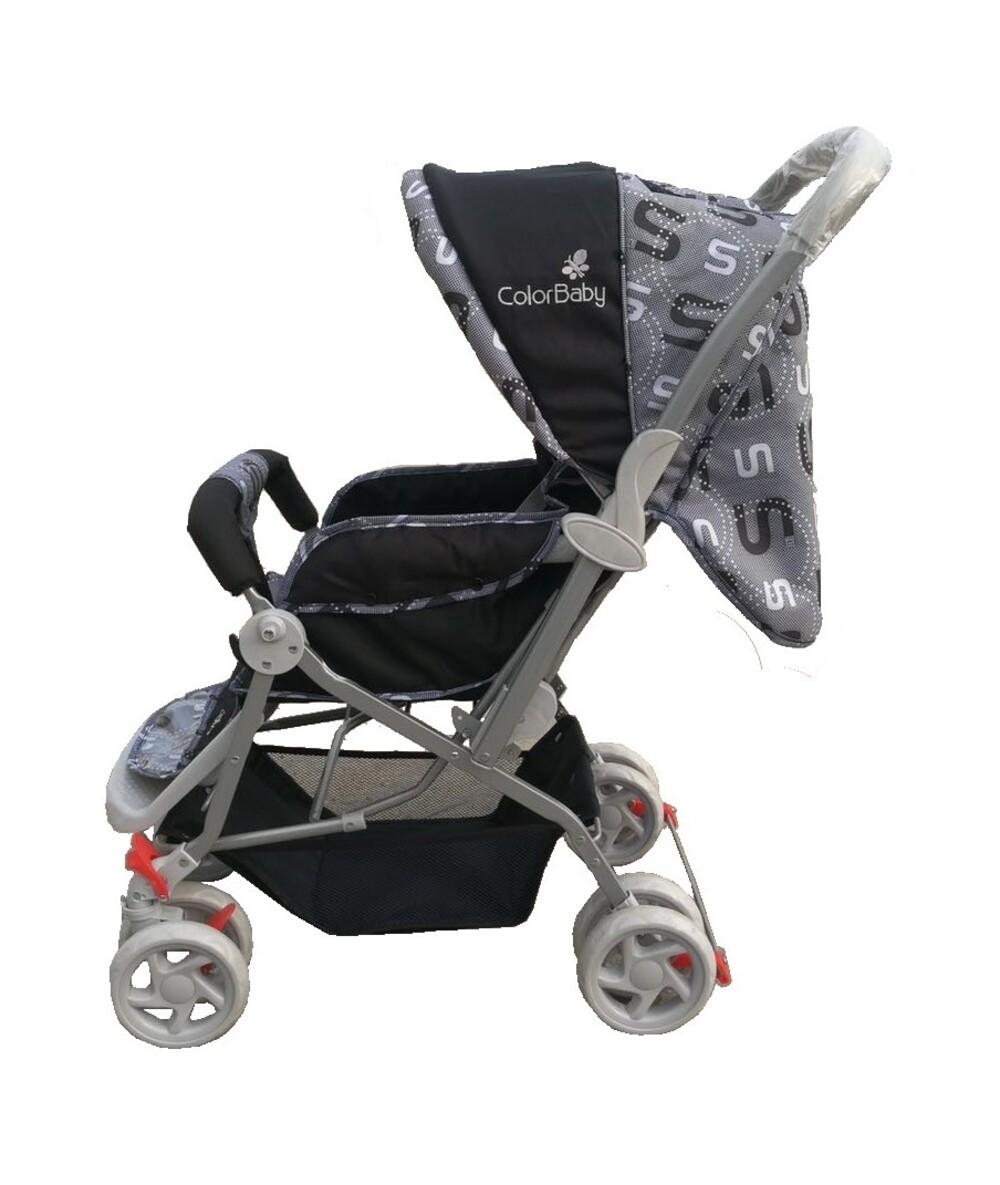Carrinho De Bebê Passeio Confort Alça Reversível Preto Color Baby  - Encanto Baby