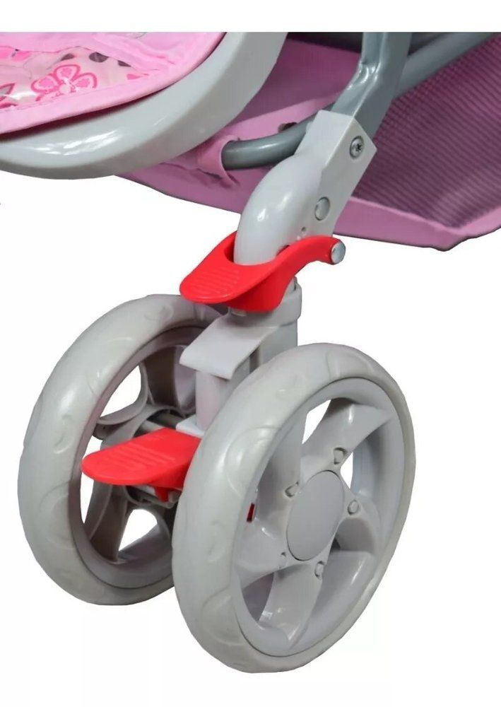 Carrinho de Bebê Passeio Junior Color Baby com Alça reversível Rosa  - Encanto Baby