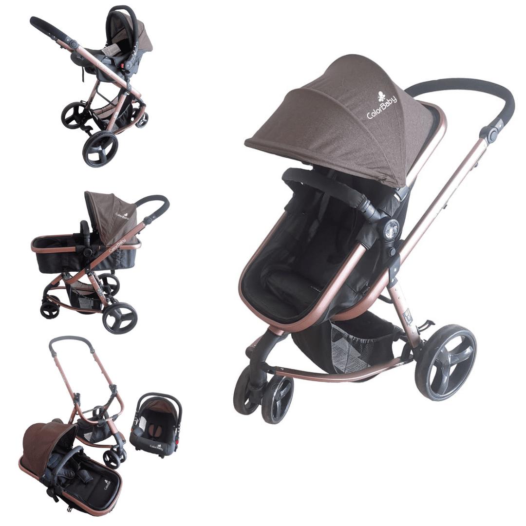 Carrinho De Bebê Travel System Evolution Color Baby 3 Em 1