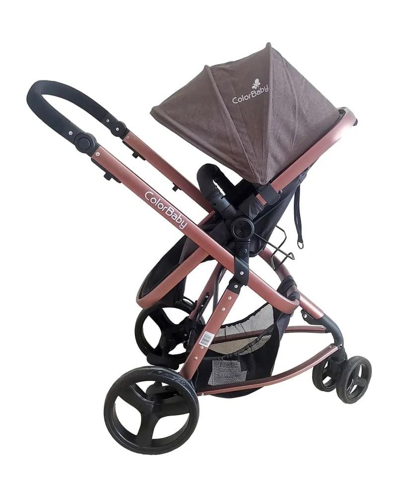 Carrinho De Bebê Travel System Evolution Color Baby 3 Em 1  - Encanto Baby