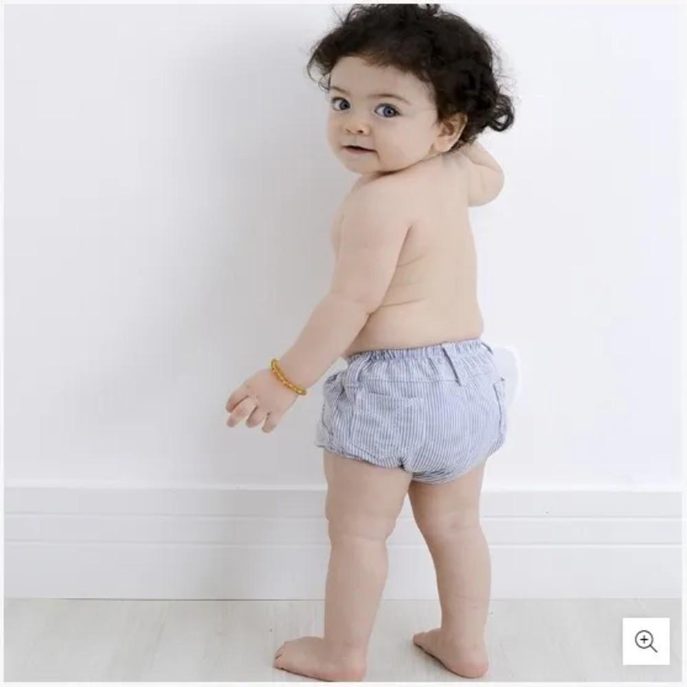 Cueca Para Bebê Cobre Fralda Zip Toys Jeans Claro  - Encanto Baby