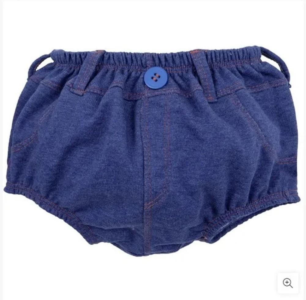 Cueca Para Bebê Cobre Fralda Zip Toys Jeans Escuro