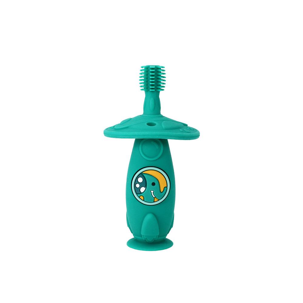 Escova Massageadora Infantil Bebe Silicone Livre de BPA Marcus & Marcus Elefante