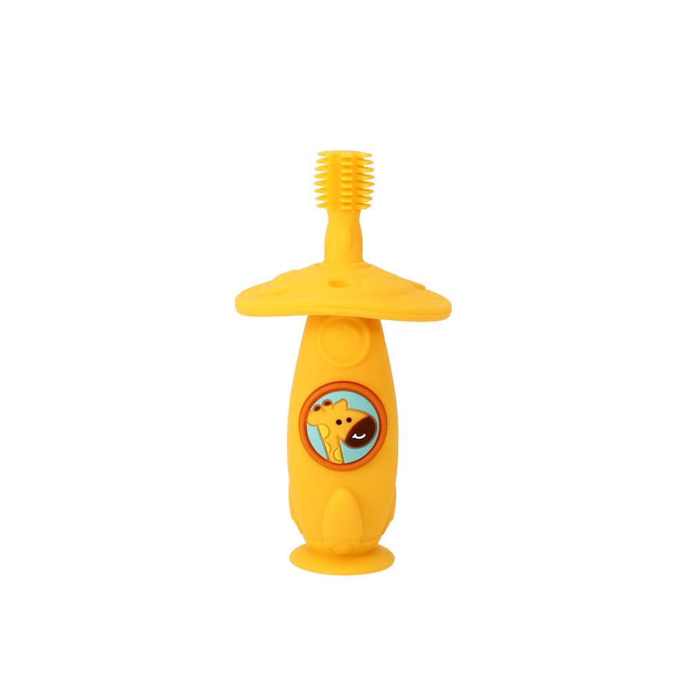 Escova Massageadora Infantil Bebe Silicone Livre de BPA Marcus & Marcus Girafa  - Encanto Baby