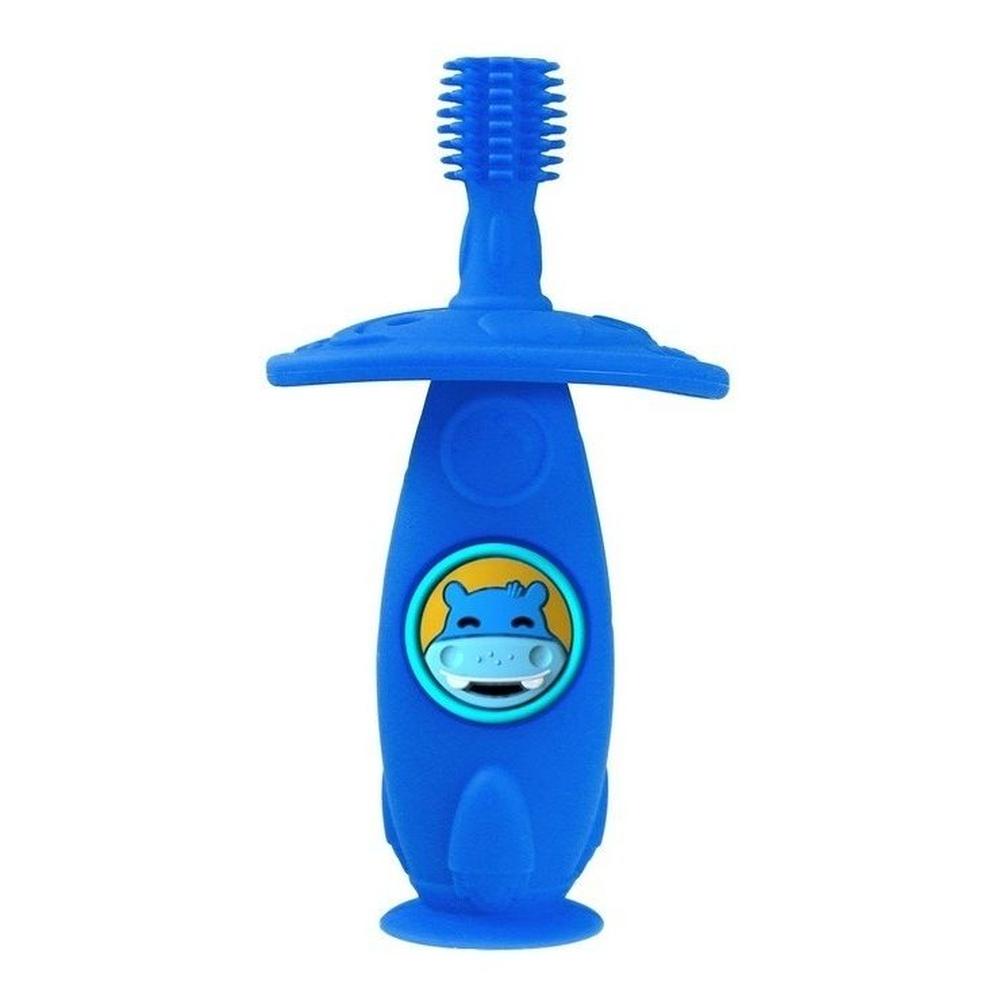 Escova Massageadora Infantil Bebe Silicone Livre de BPA Marcus & Marcus Hipopótamo