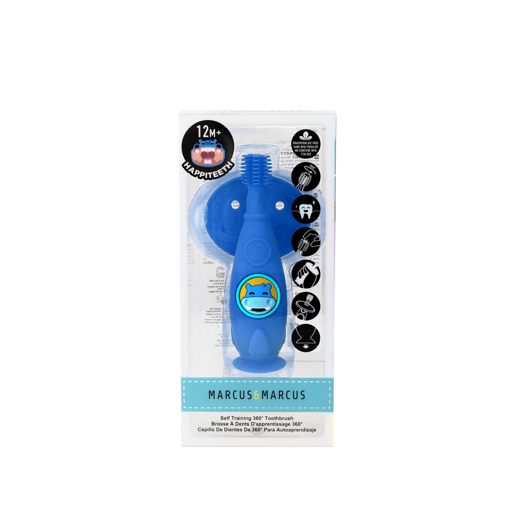 Escova Massageadora Infantil Bebe Silicone Livre de BPA Marcus & Marcus Hipopótamo  - Encanto Baby