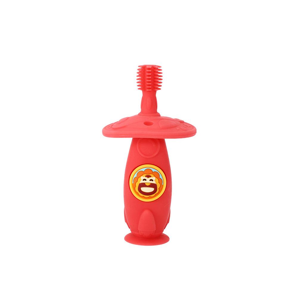 Escova Massageadora Infantil Bebe Silicone Livre de BPA Marcus & Marcus Leãozinho