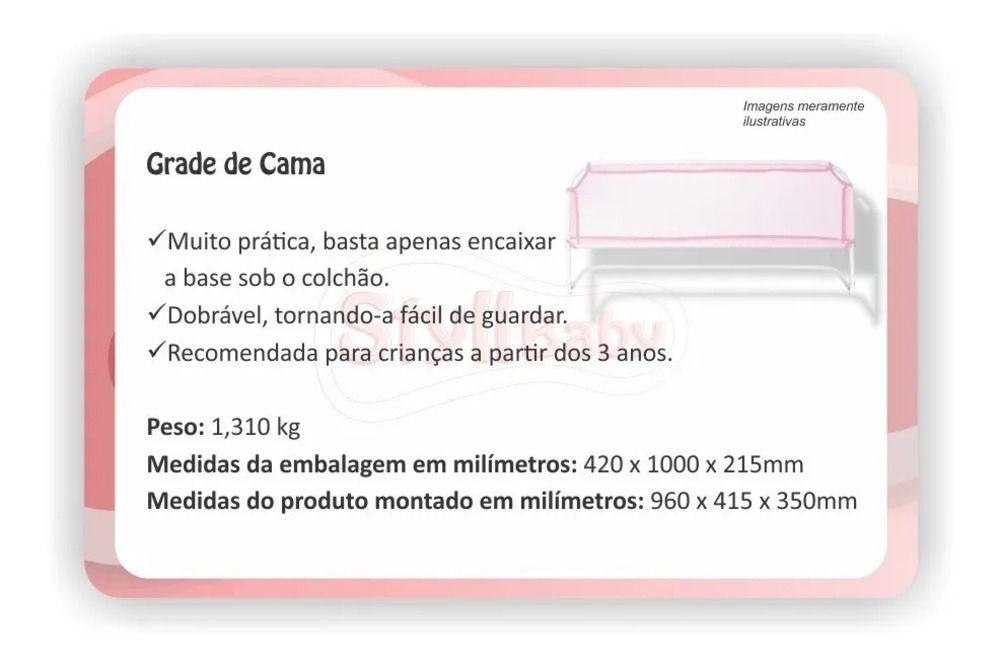 Grade De Cama Styll Baby - Mulher Maravilha  - Encanto Baby