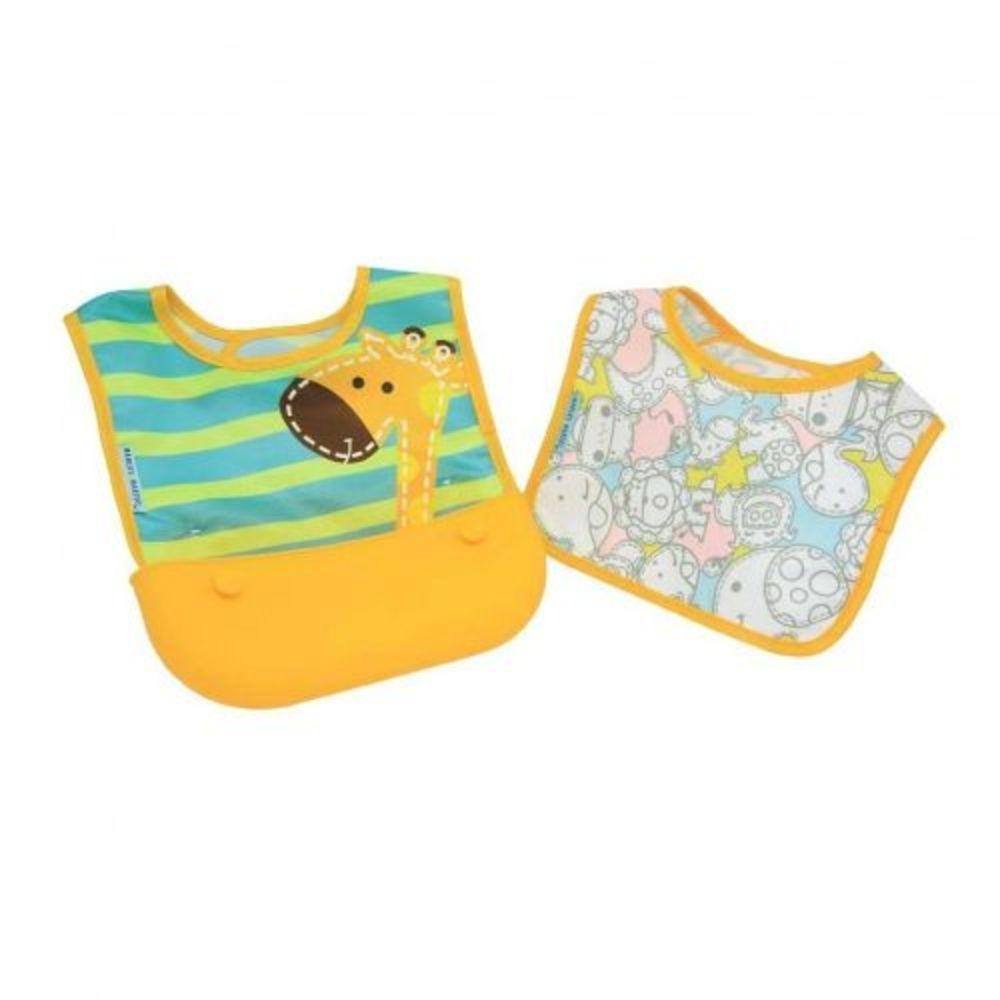Kit 2 Babadores Marcus & Marcus Tecido Impermeável Girafa  - Encanto Baby