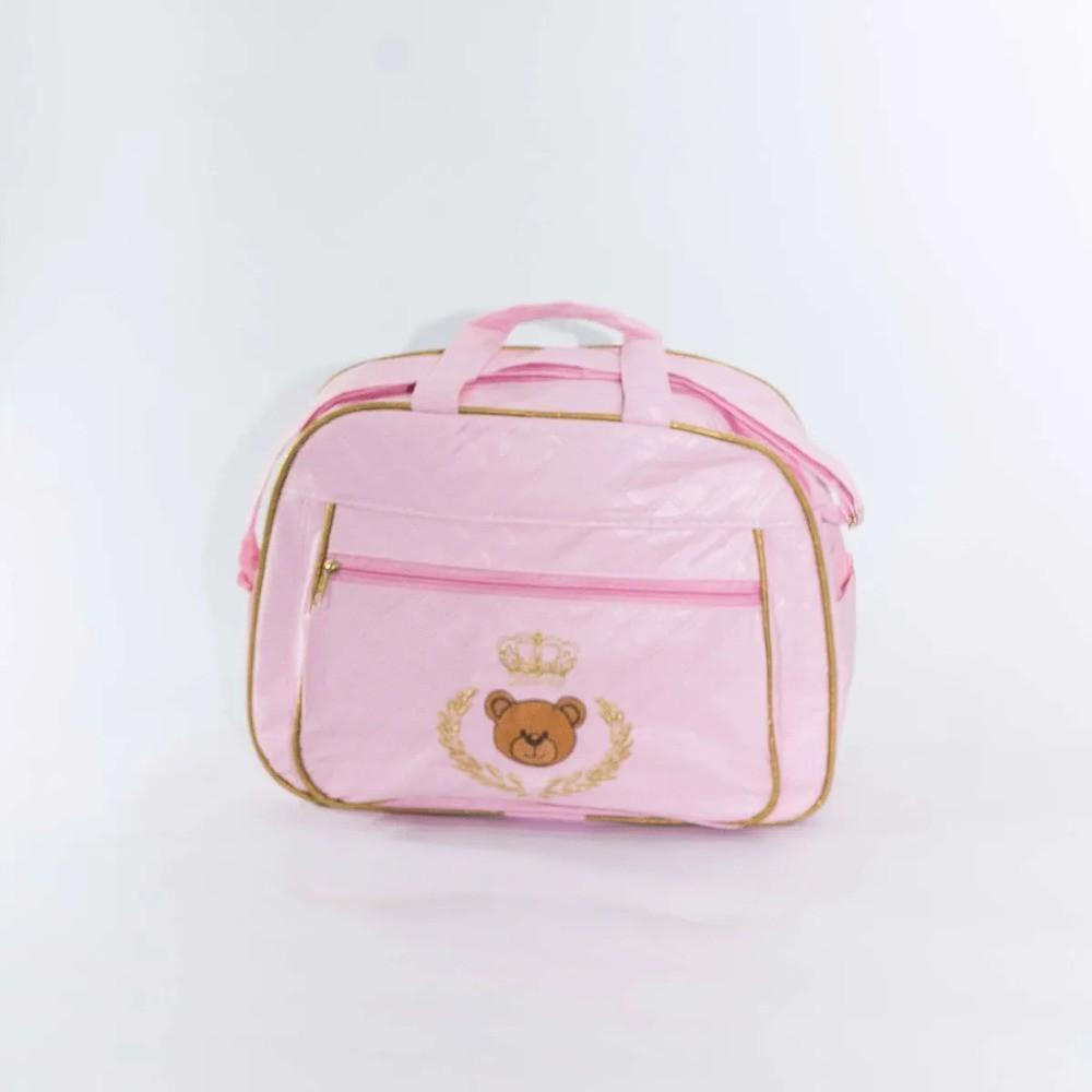 Kit Bebê Bolsas Maternidade Urso Príncipe Com Coroa  - Encanto Baby