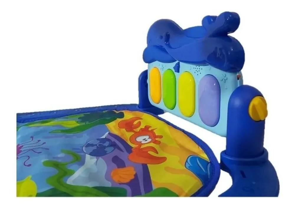 Kit Tapete De Atividades Musical + Tapete De Água Inflável Azul  - Encanto Baby
