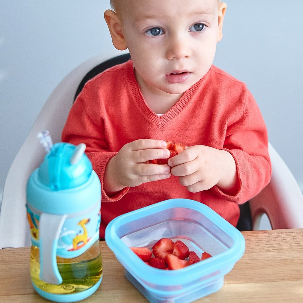 Marmitinha Para Refeição Ou Snack - Marcus & Marcus Hipopótamo  - Encanto Baby
