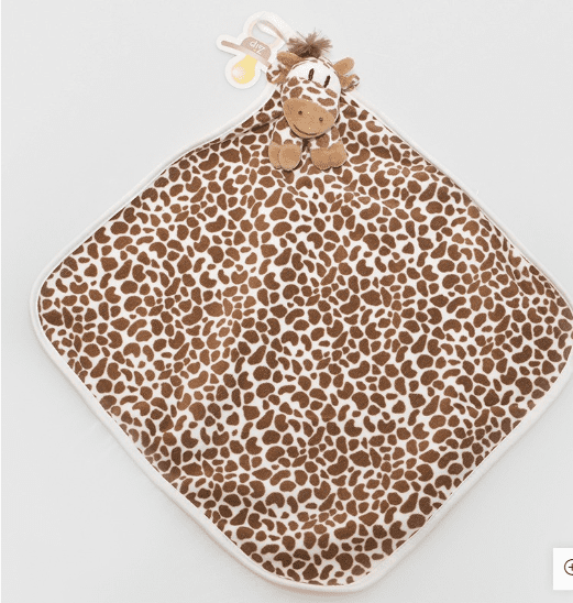 Naninha de Pelúcia Macia Girafa Isis Cetim  - Encanto Baby