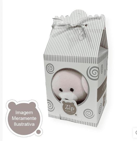 Naninha de Pelúcia Macia Urso Bege Cetim  - Encanto Baby