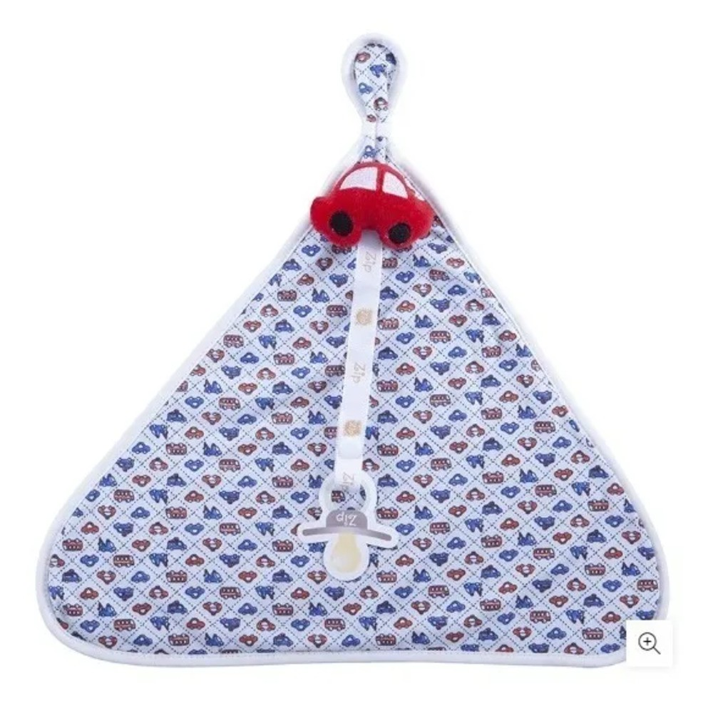 Naninha Para Bebê c/Prendedor De Chupeta Primeiro Carro Zip Toys  - Encanto Baby
