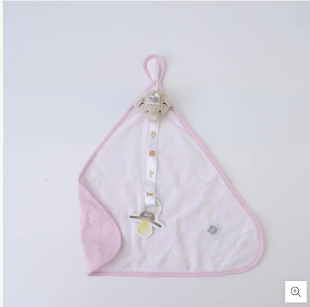 Naninha Para Bebê c/Prendedor De Chupeta Princesa Zip Toys