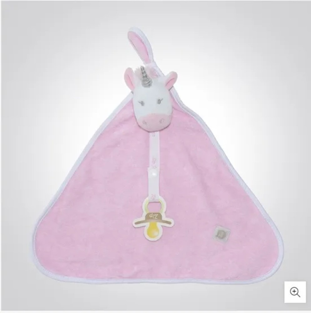 Naninha Para Bebê c/Prendedor De Chupeta Unicórnio Zip Toys