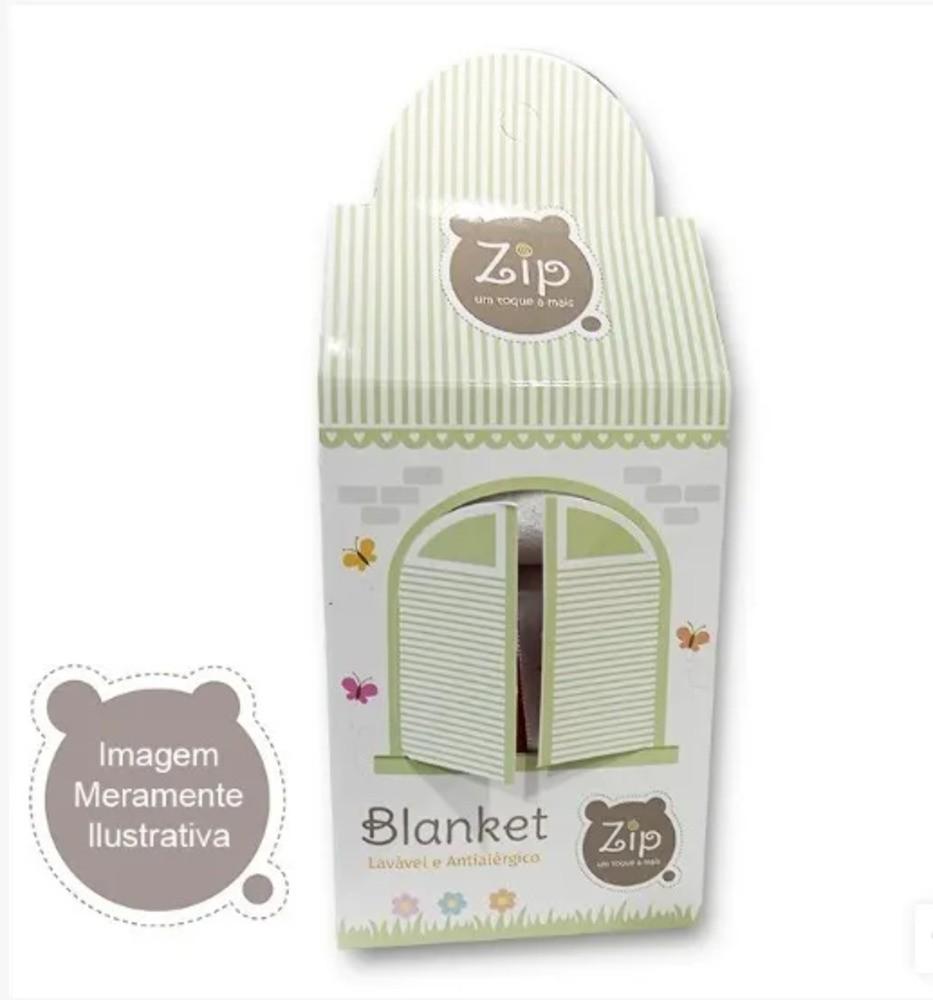 Naninha Para Bebê c/Prendedor De Chupeta Urso Azul Zip Toys  - Encanto Baby