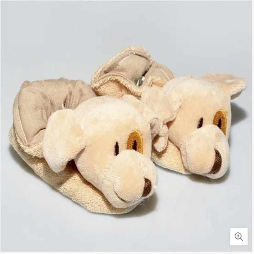 Pantufa Para Bebê Atoalhada Zip Toys Toto RN  - Encanto Baby