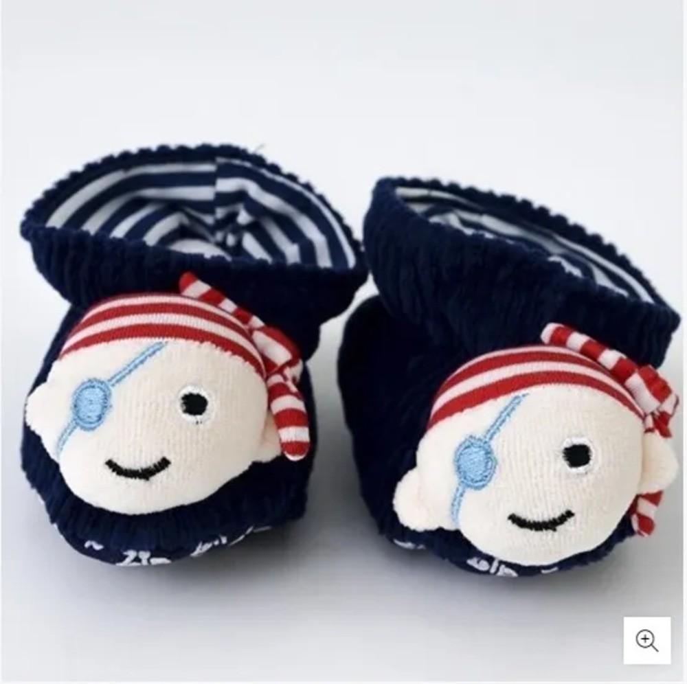 Pantufa Para Bebê Cotelê Zip Toys Pirata P