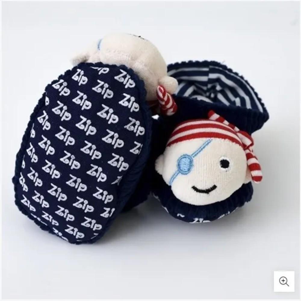 Pantufa Para Bebê Cotelê Zip Toys Pirata P  - Encanto Baby