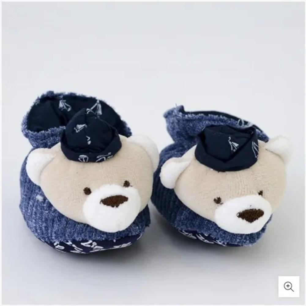 Pantufa Para Bebê Cotelê Zip Toys Urso Marinheiro RN  - Encanto Baby