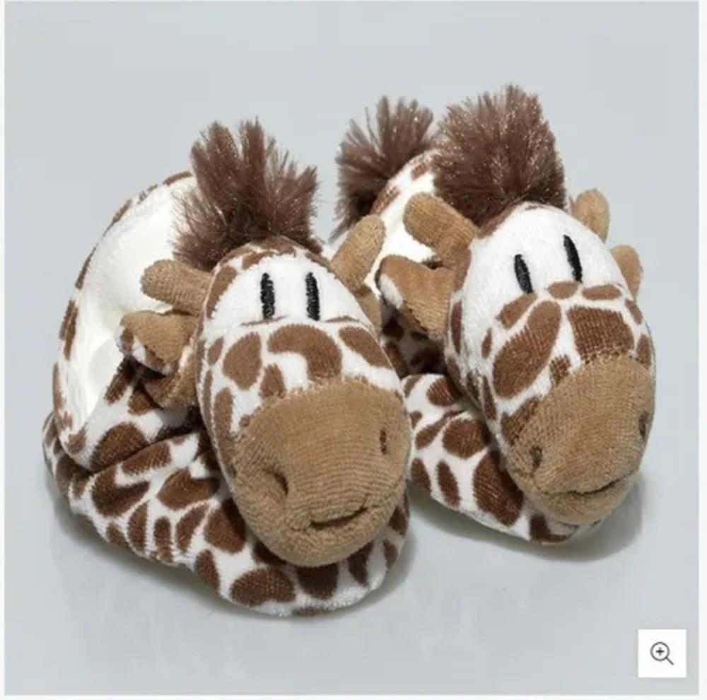Pantufa Para Bebê Plush Zip Toys Girafa Isis P