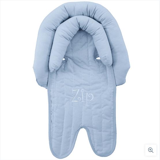 Protetor Bebê Conforto Carrinho Com Apoio De Cabeça Zip Toys Azul