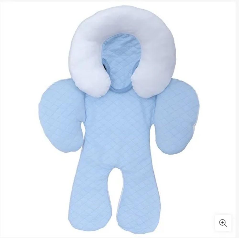 Protetor Reversível Bebê Conforto Carrinho Com Apoio Cabeça Azul