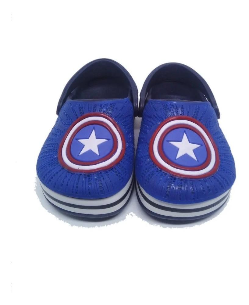 Sandália Babuche Infantil Capitão America  - Encanto Baby