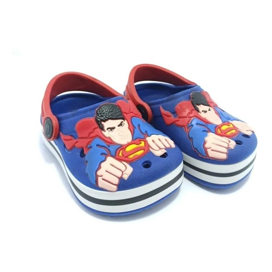 Sandália Babuche Infantil Super Homem  - Encanto Baby