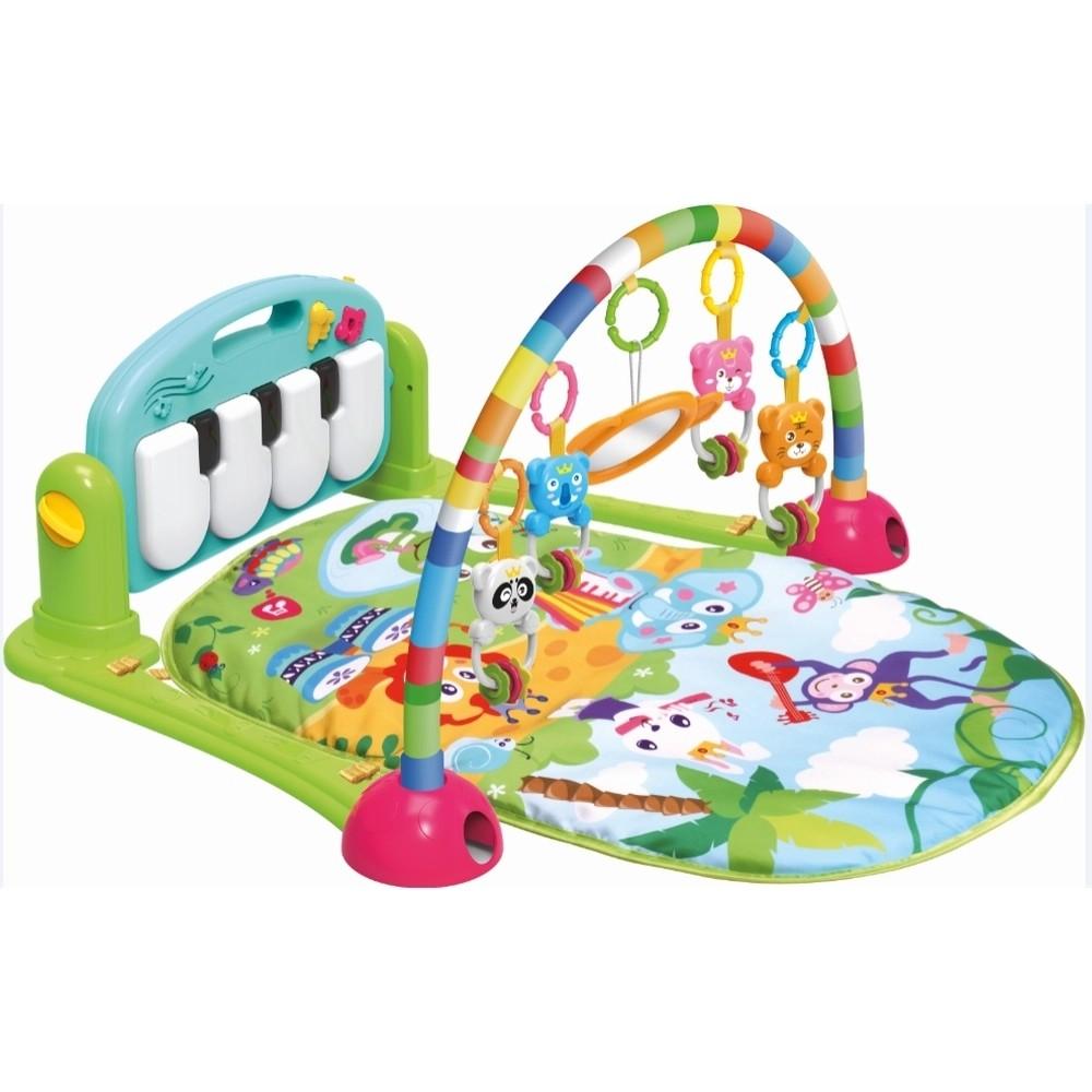 Tapete Atividade Infantil Acolchoado Piano Musical Happy Color Baby Azul