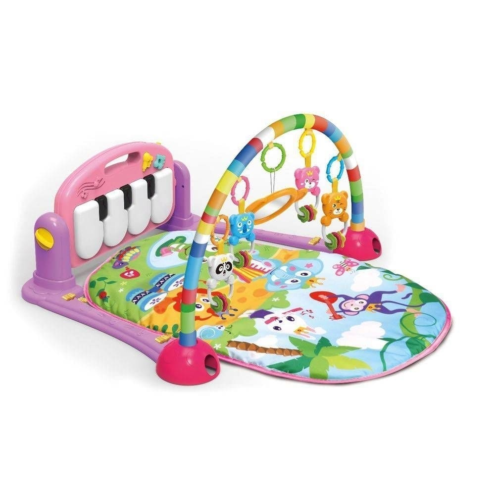 Tapete Atividade Infantil Acolchoado Piano Musical Happy Color Baby Rosa