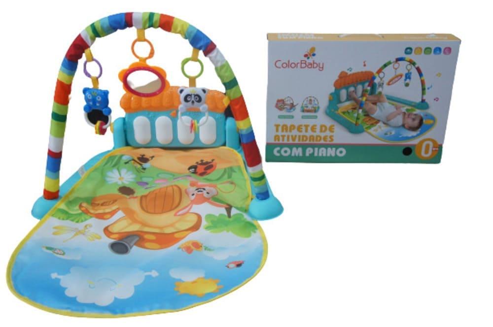 Tapete De Atividades Infantil Piano Musical Villa Color Baby  - Encanto Baby