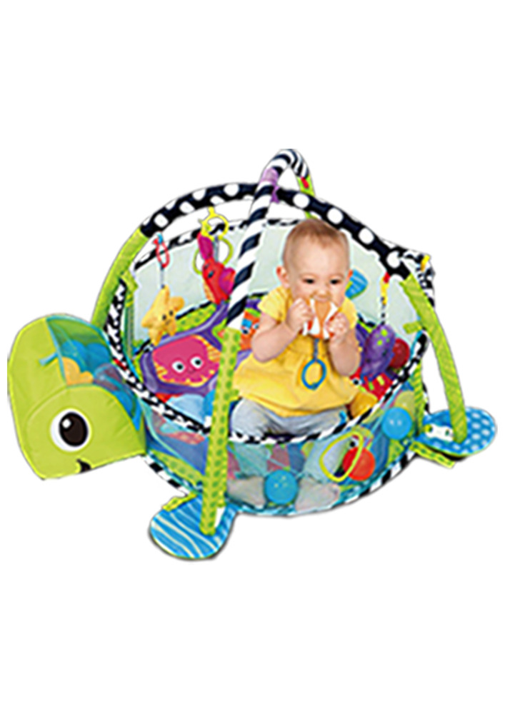 Tapete De Atividades Para Bebê Piscina De Bolinha Tartaruga