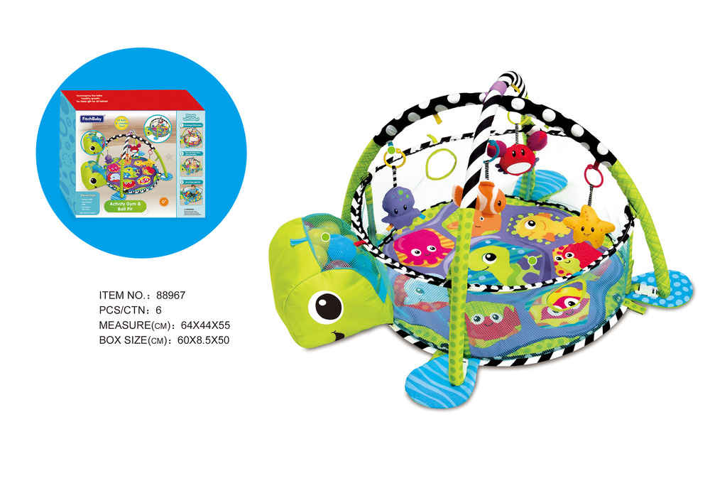 Tapete De Atividades Para Bebê Piscina De Bolinha Tartaruga  - Encanto Baby