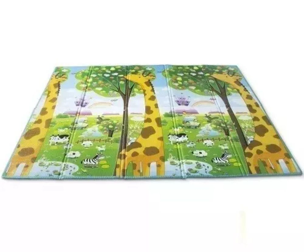 Tapete Dobrável Ibimboo Dupla Face Girafa Abc
