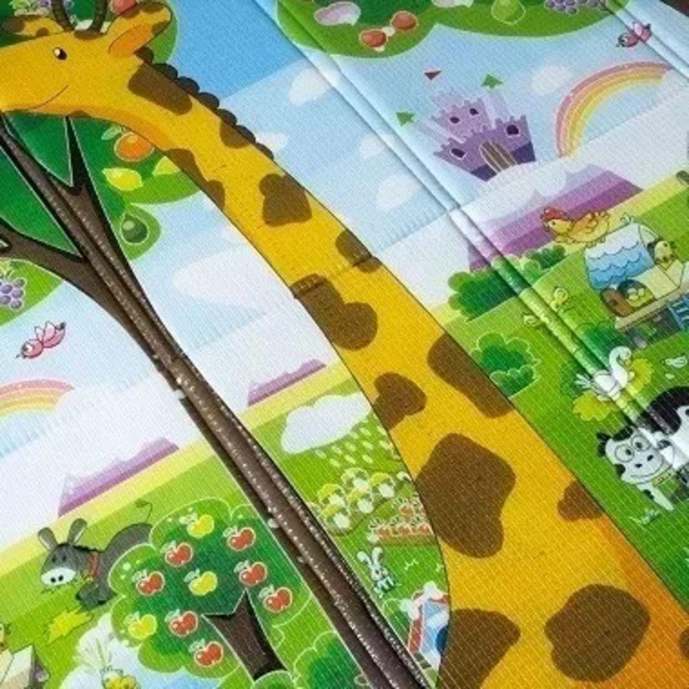 Tapete Dobrável Ibimboo Dupla Face Girafa Abc  - Encanto Baby