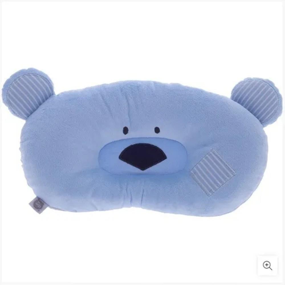 Travesseiro Para Bebês Ursinho Zip Toys Azul  - Encanto Baby