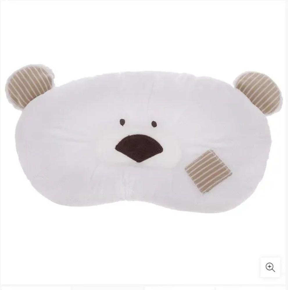 Travesseiro Para Bebês Ursinho Zip Toys Bege