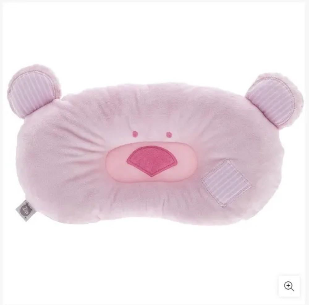 Travesseiro Para Bebês Ursinho Zip Toys Rosa