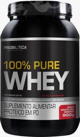 100% WHEY PURE|900G| PROBIOTICA