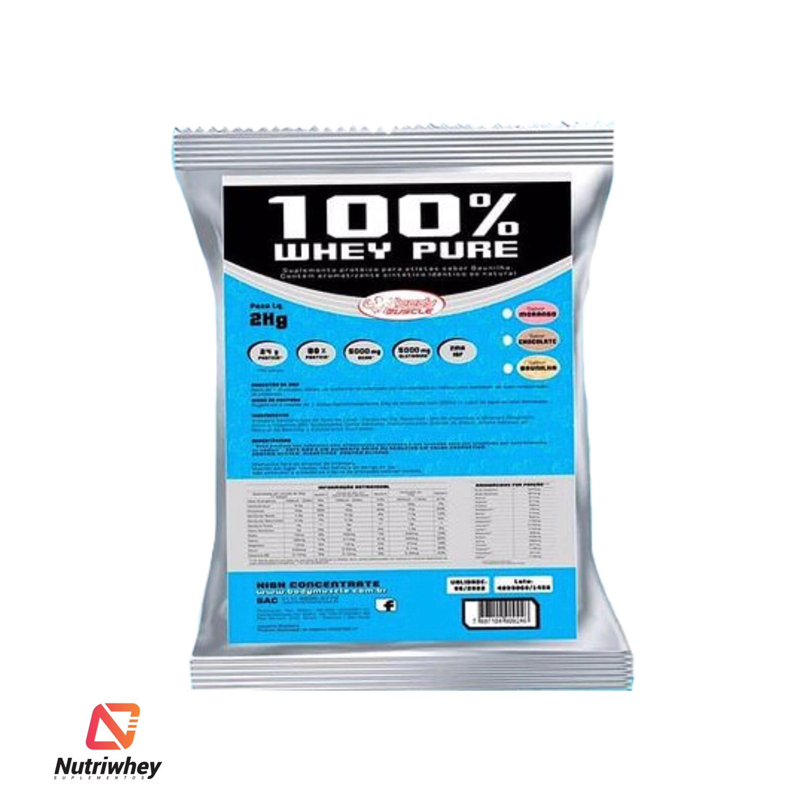 100% WHEY PURE - BODY MUSCLE