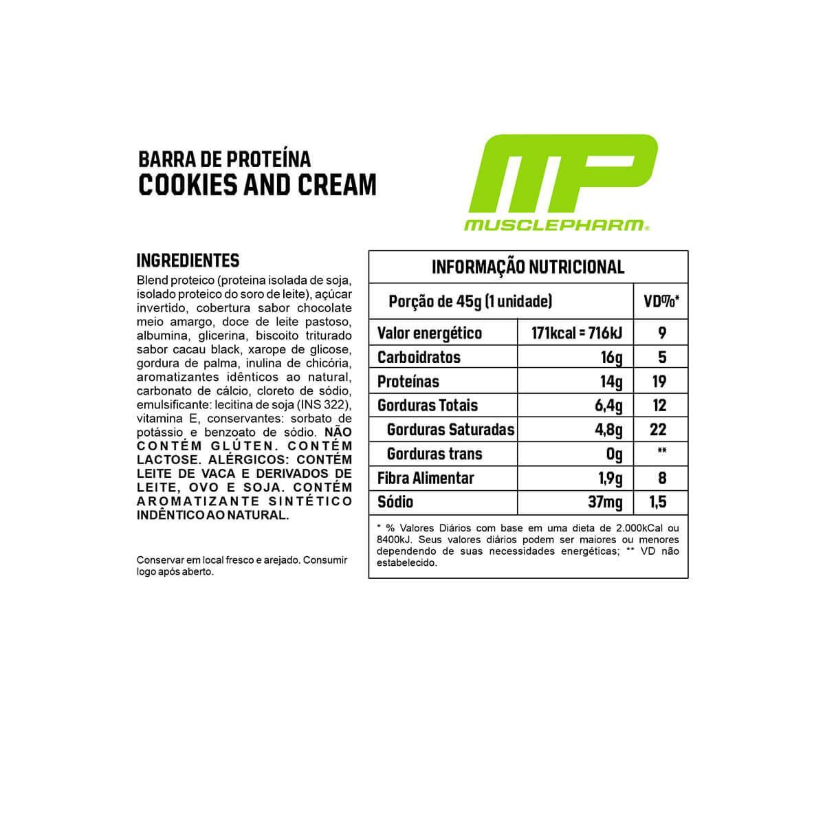 Barrinha de proteina Combat Crunch - Cx C/ 12 unidades - MusclePharm