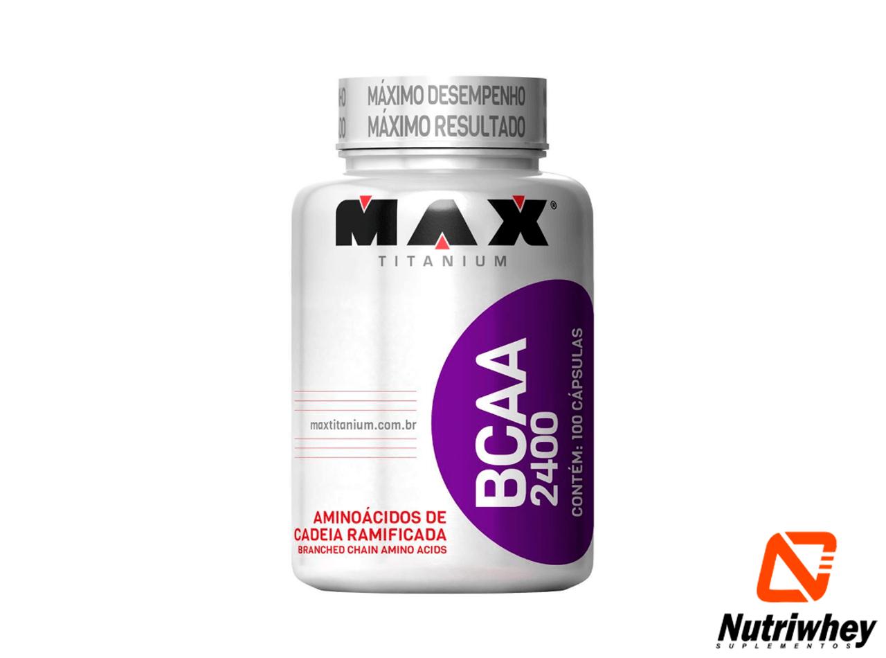 BCAA 2400 | Max Titanium | 100 Cápsulas