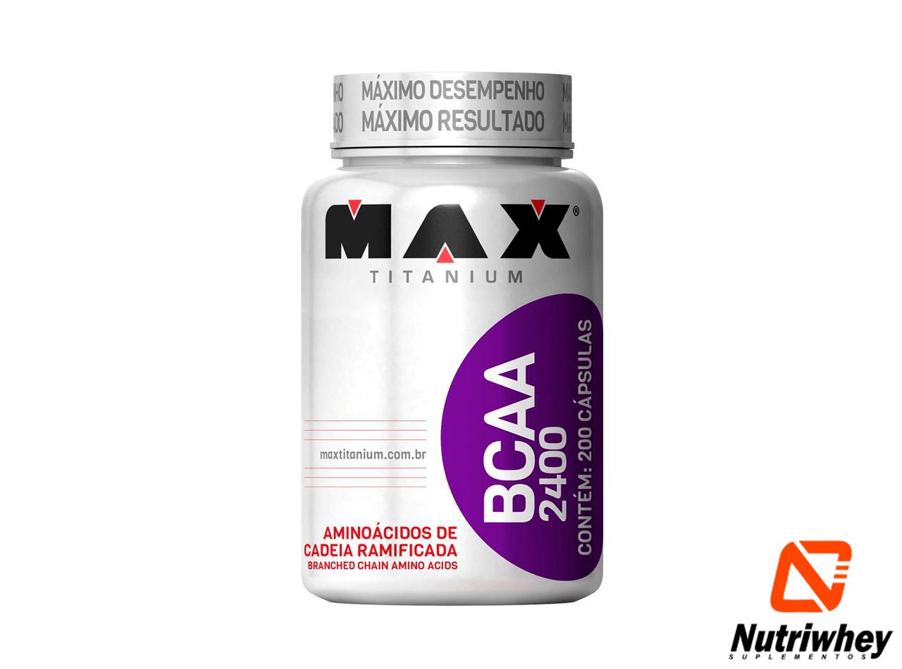BCAA 2400 | Max Titanium | 200 Cápsulas
