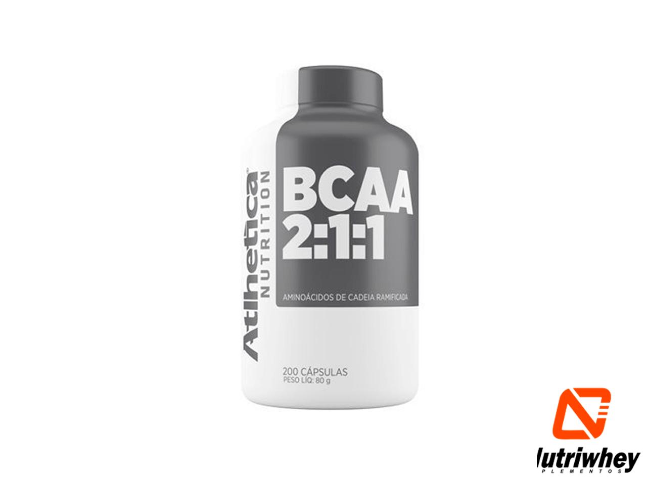 BCAA 2:1:1 | Atlhetica Nutrition | 200 Cápsulas